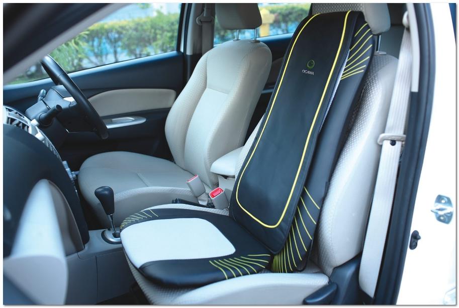 Массажная накидка на кресле водителя