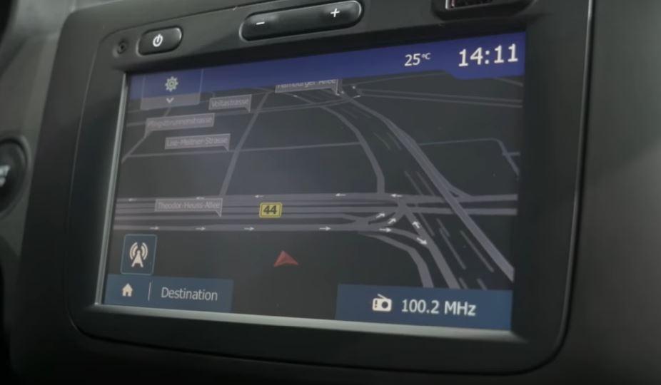 фото экрана с навигатором