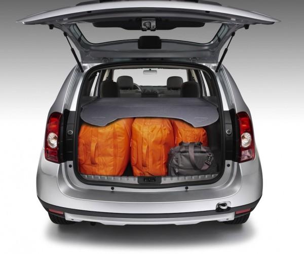 Вместимость багажника Дастера