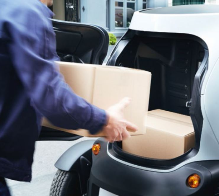 вместимость багажника twizy
