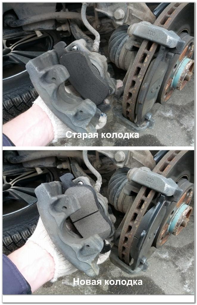 проверка тормозных колодок