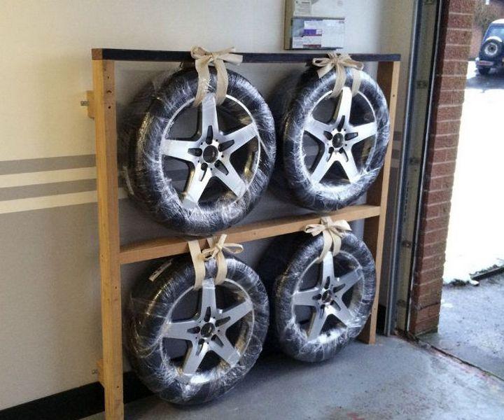 фото шин в гараже